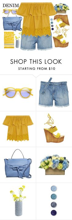 """The Final Cut: Denim Shorts"" by jiabao-krohn ❤ liked on Polyvore featuring INDIE HAIR, Current/Elliott, Madewell, Steve Madden, Annabel Ingall, Diane James, Wool and the Gang, Terre Mère, Hobbs and jeanshorts"