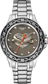 Harley-Davidson® Women's Barbed Wire Collection Bulova Watch 76L166
