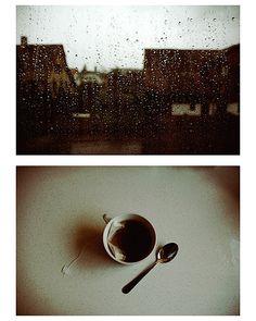 Un dia de lluvia con un rico té