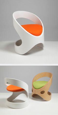 Stylish Chair Design by Martz Edition Orange Furniture, Unique Furniture, Diy Furniture, Furniture Design, Stylish Chairs, Modern Chairs, Balcony Chairs, Room Chairs, Futuristic Furniture