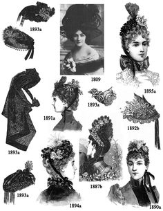 70 hair styles 1896 print article winter millinery 8672 | 7e38f8672dc388a55d9c4a8b449f557e old fashion dresses fashion shoes