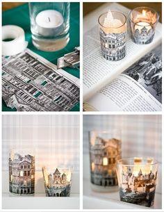 Panna i Pan Drewniani: ೊ Domowe inspiracje - świeczki i świeczniki