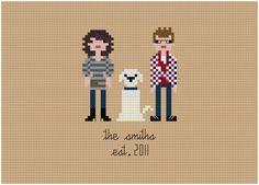 Custom PATTERN Pixel People Portrait  The by weelittlestitches, $18.00