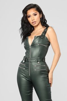 77112dd4b31 46 Best Leather jumpsuit images in 2019