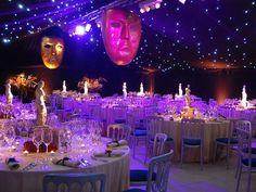 mardi gras themed wedding tent