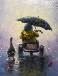 Rainy Ride Print  Vickie Wade art