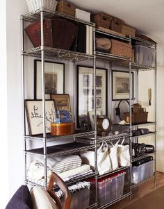 7 Ways To Organize Using Wire Shelving // Metro Shelves Used For Extra  Storage In