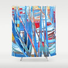 Floral abstract(45). Shower Curtain