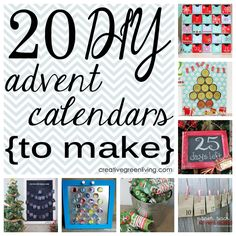 20 DIY advent calendars you can make - lots of tutorials and free printables!