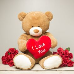 """Cupid"" the 35 inch Valentine's Day Jumbo Plush I Love You Bear by Gitzy"""