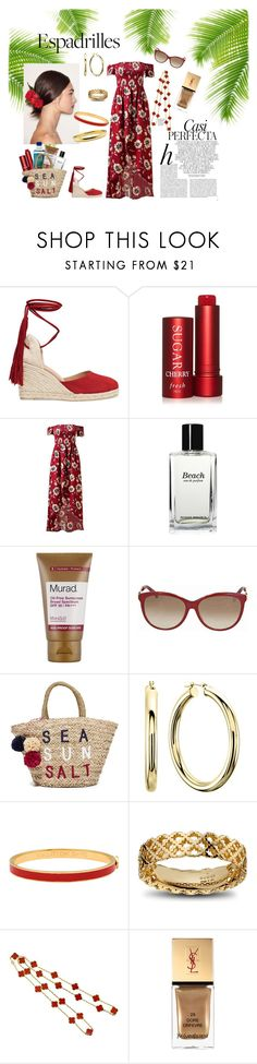 """""""How to Wear Espadrilles"""" by marnie1979 ❤ liked on Polyvore featuring Whiteley, Dolce&Gabbana, Castañer, Fresh, Bobbi Brown Cosmetics, Murad, Gucci, Sundry, Halcyon Days and Van Cleef & Arpels"""