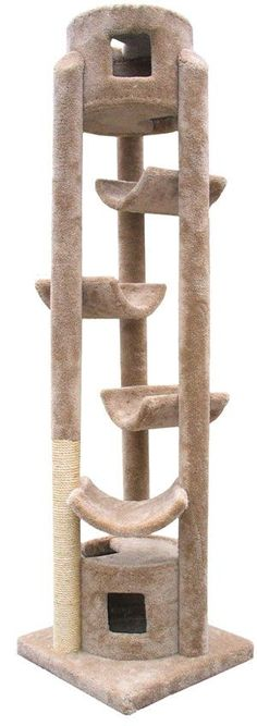 The Pinnacle Cat Gym - 86 Inches - CatsPlay.com - Fun furniture, condos and climbing gyms for cats and kittens. and like OMG! get some yourself some pawtastic adorable cat apparel!