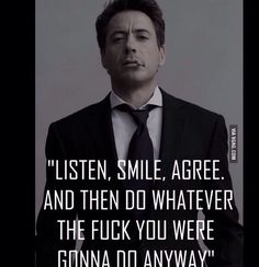 Robert Downey Jr. ❤️ words of wisdom from a babe.
