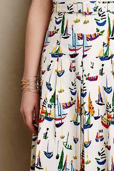 Smooth Sailing Midi Skirt - anthropologie.com #anthrofave #anthropologie
