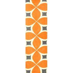 Brayden Studio Stoltenberg Hand-Woven Deep Orange Area Rug & Reviews   Wayfair