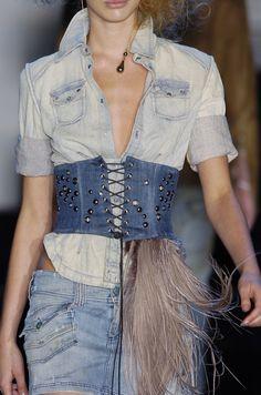 430654596c Denim Belts Corsets Belt Front tie-up Back Zipper Lace Up Corset Belt  Ribbed Waist Belt Waistband Shape-Making Midriff-Cincher  Affilia…
