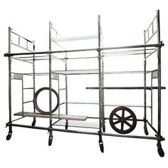 1940s Scaffold Shelving | From a unique collection of antique and modern shelves at http://www.1stdibs.com/furniture/storage-case-pieces/shelves/