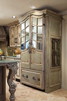 beautiful French Country fridge