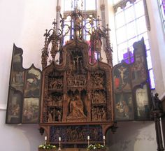 Church of St Nicholas, Kalkar, Germany - well known for its nine (originally at least 16) carved altarpieces.