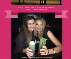 """""""My beautiful sister-in-law Cherie Giorgianni has recently been diagnosed with stage 4 metastatic breast cancer."""" """"I normally don't do any fundraising associated with my running, but this time is different. I want to help raise money for a worthwhile cause because I want a cure for this nasty disease. I want Cherie to be around for years to come - after all, who else am I going to drink champagne and guava cocktails with?"""""""