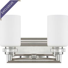 Lena 2-Bulb Vanity Light in Polished Nickel  at Joss and Main