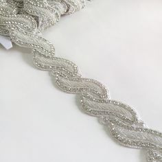 Bridal Belt,Crystal Beads Applique Trim DIY for Wedding dress. www.sigiving.com