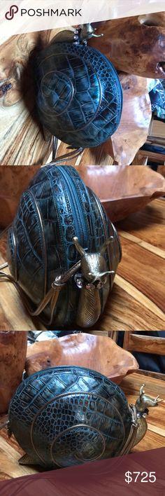 Spotted while shopping on Poshmark: Braccialini Bag - Amazing alligator bag. Unique!! #poshmark #fashion #shopping #style #Braccialini #Handbags