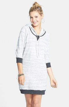 Socialite Hooded Sweatshirt Dress (Juniors) | Nordstrom