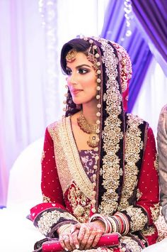Pakistani bride. How to incorporate some of this into a Western wedding. https://www.facebook.com/Shaadi.org.pk
