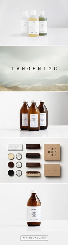 Shoe grease as lip balm packaging branding Tangent GC on Behance by Essen International curated by Packaging Diva PD. Stain remover based on soya beans and sunflowers. Fine wash that treats your skin as well as silk, wool or cashmere.