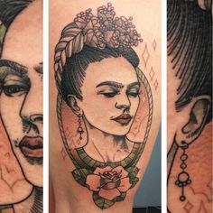 #ArteEnLaPiel #fridatattoo #fridakahlo #beau #fantastique #stunning piece by @rockyzero_tattoo