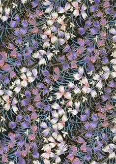 Papier Washi japonais Yuzen Chiyogami Floral par CraftyPaperOz