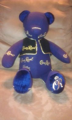 Bear made from Crown Royal Bags