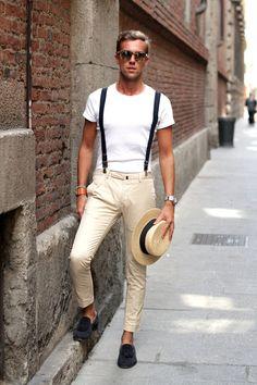 サスペンダーの着こなしとコーディネート | メンズファッションスナップ フリーク