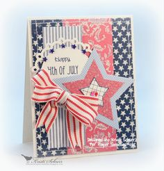 Kristi Schurr: Kristi's Paper Creations: Paper Sweeties July Inspiration Challenge #21 - 'Patriotic Prints' - 7/1/14 (Paper Sweeties: Happy Everything/ Live Laugh Love/ Fun Shapes)