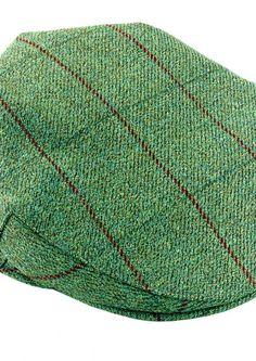 Classic Scottish CountryTweed Flat cap Teflon coated with waterproof and breathable membrane Moleskin trim finish under peak 100 British Pure Wool