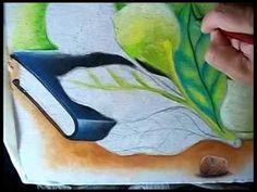 Pintando:Hortênsias,transparência e Bíblia. - YouTube