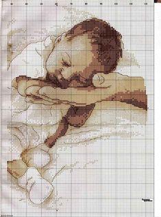 Вышивка Спящий младенец