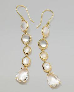 18k Gold Rock Candy Gelato 5-Tier Drop Earrings, Flirt by Ippolita at Neiman Marcus.1495<3<3