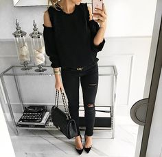 #all about black #blouse #mintlabel #ootd #look #instafashion #instagram #fashion #stylish #shopping #look #instamood