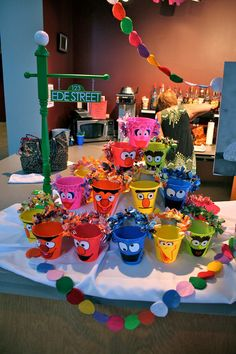 Sesame Street party complete with personalized street sign!