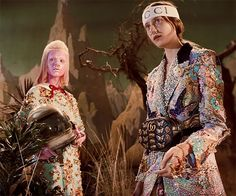 Human Characters Interact With Extra-Terrestrial Creatures And Dinosaurs – New Gucci Campaign Inspired By Vintage Sci-Fi, http://photovide.com/extra-terrestrial-creatures-gucci-campaign-sci-fi/ Check more at http://photovide.com/extra-terrestrial-creatures-gucci-campaign-sci-fi/