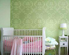 Simple Rhyme Allover Stencil  See more Nursery Stencils: http://www.cuttingedgestencils.com/nursery-stencils-walls.html   #nursery #stencil #patterns