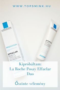 Kipróbáltam a La Roche Posay sikertermékét, melyet elsősorban zsíros, pattanásos bőrre ajánlanak, de a végén úgy alakult, hogy én is kipróbáltam és megdöbbentem a hatásán... Arcápolás, Pattanásos bőr ápolása, Sminktippek, Sminktermékek, Szépségápolás Effaclar Duo, La Roche Posay Effaclar, Beauty, Beauty Illustration