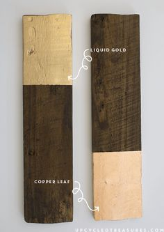 diy-gilded-copper-leaf-and-liquid-gold-modern-rustic-wall-hanging-upcycledtreasures