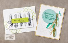 Stampin' Up! Watch It Wednesday With Embossing Paste #embossing paste #lemonlimetwist #stampinupwatchitwednesday Delightful Daisy eclectic feathers Watch it Wednesday