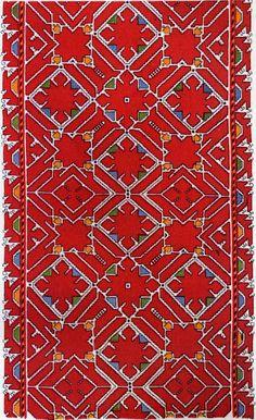 FolkCostume&Embroidery: Embroidery of Sofia Area, Shope region, Bulgaria
