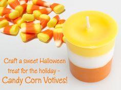 DIY Halloween : DIY Candy Corn Votive