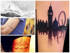 40 pictures of the best travel-themed tattoos - Matador Network - City skyline - love the London skyline