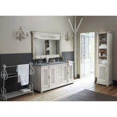 Specchio in legno bianco H 97 cm ALBANE | Maisons du Monde